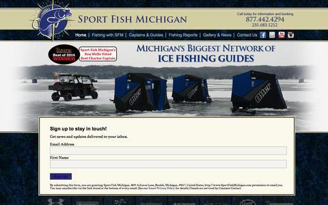 Screenshot of Signup Page sportfishmichigan.com - Northern Michigan Fishing Guides at Sport Fish Michigan - captured Dec. 12, 2016