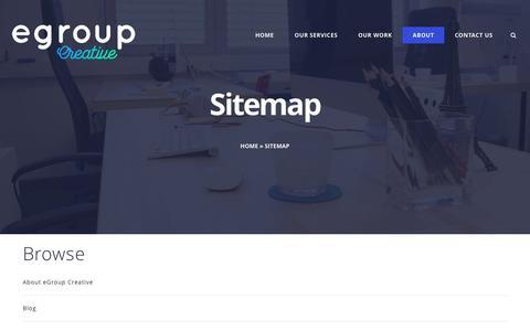 Screenshot of Site Map Page egroup.com.au - Sitemap | - captured Nov. 15, 2016