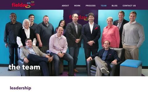 Screenshot of Team Page fieldaymarketing.com - Team - fielday - captured Jan. 8, 2016
