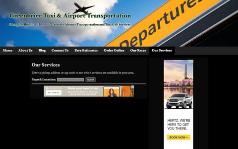 Our Services | Greenbrier Taxi & Airport Transportation
