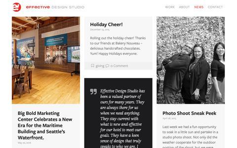 Screenshot of Press Page effectivedesign.com - Effective Design Studio I News I Stay Connected - captured Sept. 27, 2018