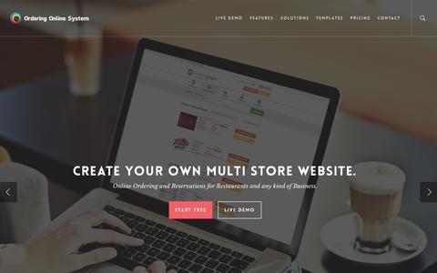 Screenshot of Home Page orderingonlinesystem.com - Ordering Online System – Best Online Food Ordering Software - captured Jan. 26, 2015