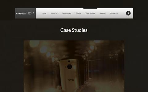 Screenshot of Case Studies Page creativaindia.com - Case Studies - www.creativaindia.com - captured Dec. 13, 2015