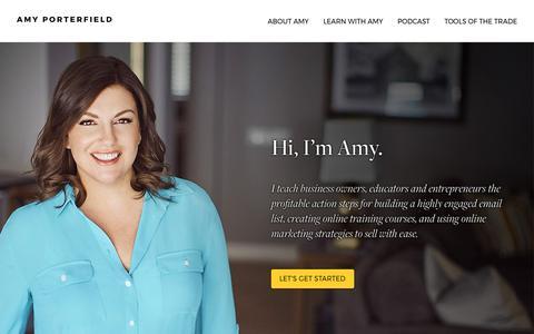 Screenshot of Home Page amyporterfield.com - Amy Porterfield | Online Marketing Expert - captured April 10, 2017