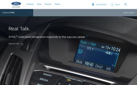 SYNC® 3 and SYNC | Hands-free, Smart Entertainment & Vehicle Information Systems | Ford.com