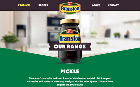 Screenshot of Products Page bringoutthebranston.co.uk - Our Range - Pickles, Baked Beans & More | Branston - captured June 30, 2018