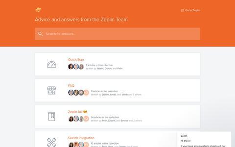 Screenshot of Support Page zeplin.io - Zeplin says… - captured June 21, 2018