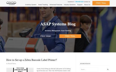 Screenshot of Blog asapsystems.com - Inventory and Asset Management System - Blog | - captured Sept. 30, 2018
