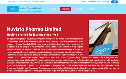 Screenshot of About Page nuvistapharma.com - NUVISTA PHARMA - captured Sept. 21, 2018