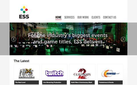Screenshot of Home Page essagency.com - ESS Agency - captured Sept. 26, 2014
