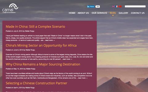 Screenshot of Blog camaltd.com - Blog | China Africa Merchants Advisors Limited (CAMAL) - captured Jan. 27, 2016