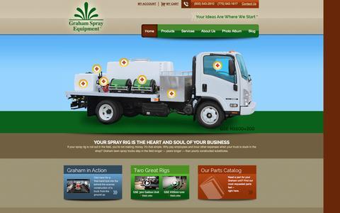 Screenshot of Home Page grahamse.com - Graham Spray Equipment & Spray Rigs for Turf & Tree - captured Oct. 3, 2014