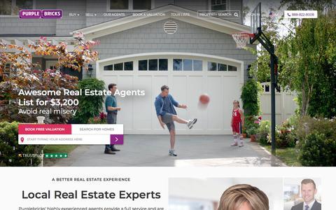 Screenshot of Home Page purplebricks.com - Purplebricks - Your Local Real Estate Agent - captured Feb. 9, 2018