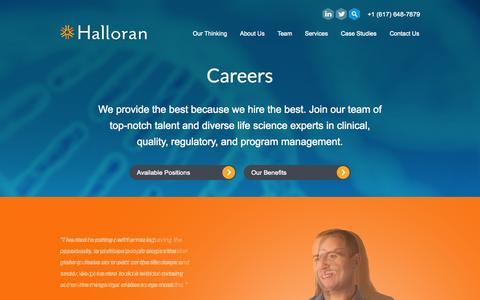 Screenshot of Jobs Page hallorancg.com - Careers - Halloran Consulting Group - Halloran Consulting Group - captured Nov. 18, 2015
