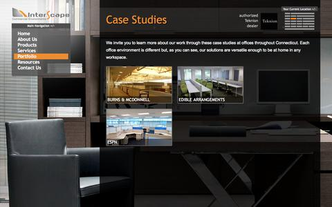 Screenshot of Case Studies Page interscape.com - Case Studies | Interscape - captured Oct. 6, 2014