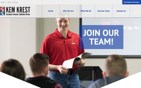 Screenshot of Signup Page kemkrest.com - Join | Kem Krest - captured Oct. 15, 2018