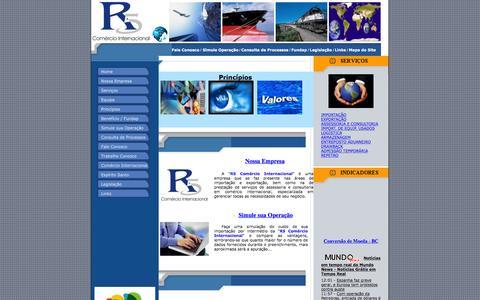 Screenshot of Home Page r5.com.br - R5 Comércio Internacional - captured Feb. 22, 2016