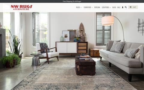Screenshot of Home Page nwrugs.com - NW Rugs & Furniture | Portland, Los Angeles, Las Vegas - captured Sept. 17, 2015