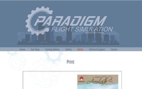 Screenshot of Press Page paradigm.aero - Paradigm Shift Solutions: Media - captured Oct. 20, 2016