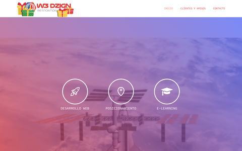 Screenshot of Home Page w3dzign.com - Inspirando los futuros grandes negocios - w3dzign We know how! - captured Jan. 22, 2017