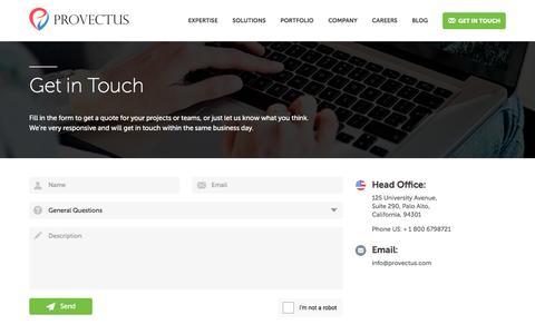 Get in Touch - Provectus Provectus