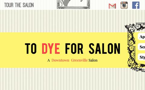 Screenshot of Home Page todyeforsalon.com - Home | To Dye For Salon - captured Aug. 12, 2015
