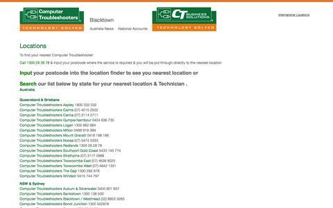 Screenshot of Locations Page ctblacktown.com.au - Locations - Blacktown - captured Jan. 29, 2016