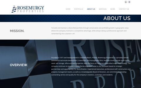 Screenshot of About Page rosemurgyproperties.com - Rosemurgy Properties |   ABOUT US - captured Sept. 30, 2014