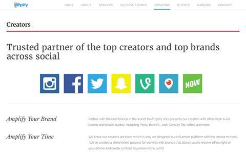 Creators | theAmplify