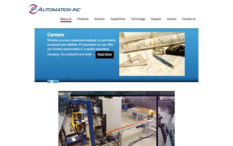 Screenshot of Home Page ipautomationinc.com - About Us | Intelligent Processes and Automation Inc - captured Feb. 11, 2016