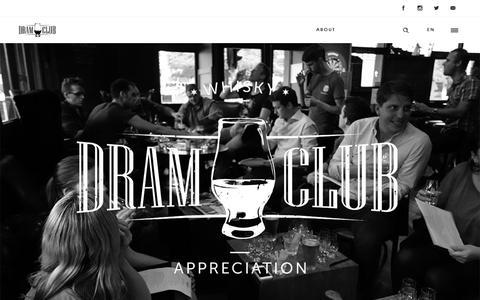 Screenshot of Home Page dramclub.com.au - Dram Club - captured June 5, 2017