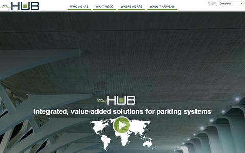 Screenshot of Home Page zeag.com - HUB Parking Technology - Integrated, value-added solutions for parking systems - captured Oct. 6, 2014