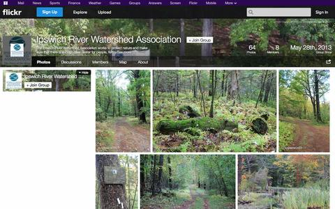 Screenshot of Flickr Page flickr.com - Flickr: The Ipswich River Watershed Association Pool - captured Oct. 23, 2014