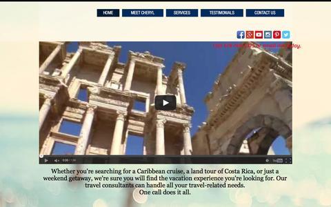 Screenshot of Home Page lezgotravel.com - Lez Go Travel-Designer Honeymoons,Destination Weddings,Romance Travel - captured Dec. 9, 2015