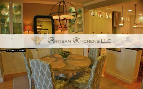 Screenshot of Menu Page artisankitchensinc.com - Artisan Kitchens, LLC - Cape Cod, MA - captured Oct. 4, 2014