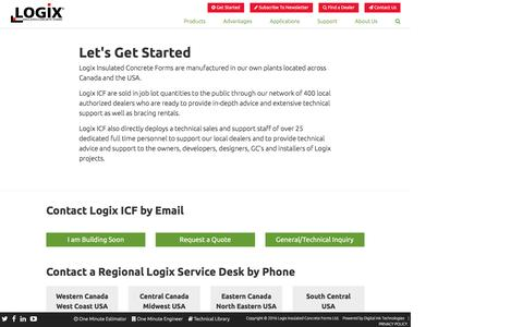 Screenshot of Contact Page logixicf.com - Logix ICF | Let's Get Started - captured Nov. 12, 2016