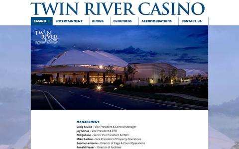 Screenshot of Team Page twinriver.com - Management - Twin River Casino - captured Oct. 6, 2014