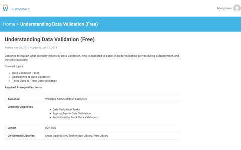 Understanding Data Validation (Free)   Workday Community