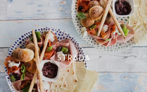 Screenshot of Home Page strada.co.uk - Strada - Italian Restaurants - Serving simple, freshly prepared dishes - captured Oct. 19, 2018