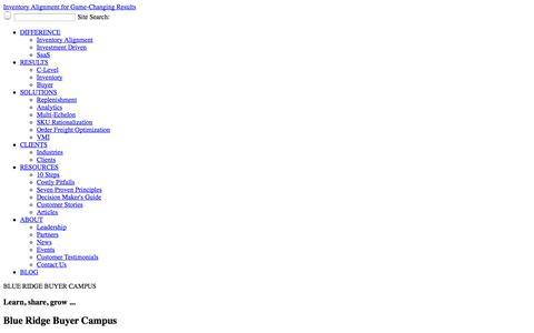 Screenshot of Press Page blueridgeinventory.com - SaaS Demand Forecasting, Inventory Replenishment, Inventory Optmization, SKU Rationalization, Vendor Managed Inventory Software-as-a-Service - captured Oct. 5, 2014