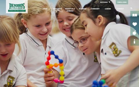 Screenshot of Home Page penrhos.wa.edu.au - Home - Penrhos College | Perth Girls School | Perth Private School - captured Oct. 2, 2014