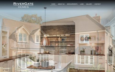Screenshot of Home Page rivergatehomes.co.uk - Welcome to RiverGate Homes - captured Aug. 18, 2016