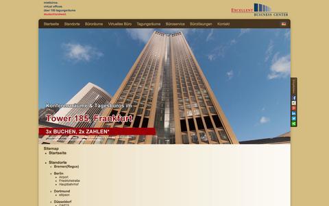 Screenshot of Site Map Page excellent-bc.de - Sitemap von Excellent Business Center - captured Sept. 25, 2014