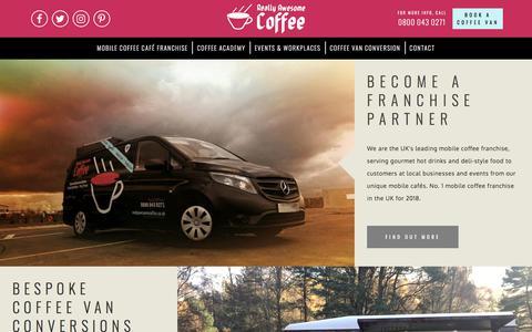 Screenshot of Home Page reallyawesomecoffee.co.uk - Mobile Coffee | Really Awesome Coffee - captured Sept. 21, 2018