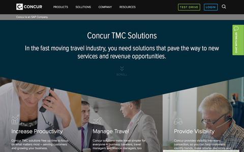 Concur's Travel Management Company Software Solution - Concur