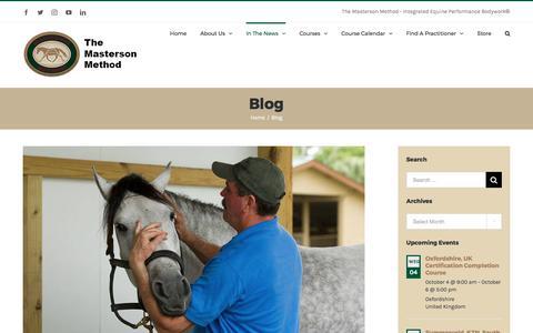 Screenshot of Blog Press Page mastersonmethod.com - Blog – The Masterson Method - captured Oct. 4, 2017