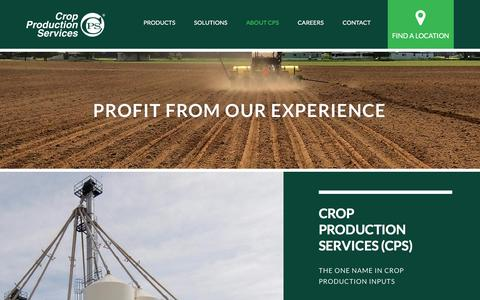 Screenshot of About Page cpsagu.com - About | Crop Production Services - captured Feb. 13, 2016