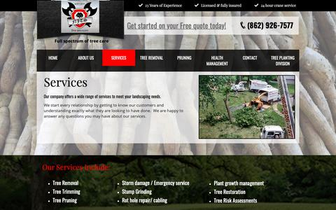 Screenshot of Services Page northjerseytreespecialists.com - Services | North Jersey Ttree Specialists - captured Oct. 19, 2018
