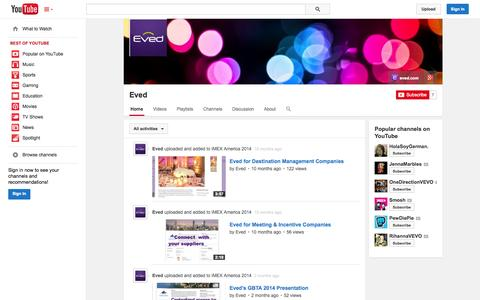 Screenshot of YouTube Page youtube.com - Eved  - YouTube - captured Oct. 22, 2014
