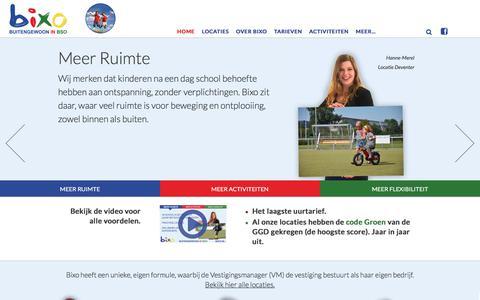 Screenshot of Home Page bixo.nl - Home - Bixo | Buitengewoon in BSO - captured June 1, 2017